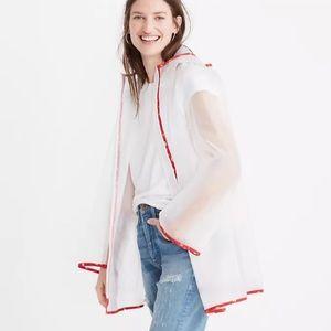 Madewell Translucent Anorak Rain Jacket Oversized